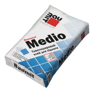 Товстошарова клейова суміш для керамічної плитки Baumit Medio